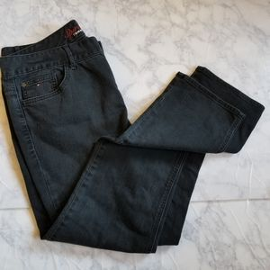 Tommy Hilfiger Size 14 Black Jeans Skinny Straight